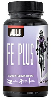 Препарат железа  Fe Plus Athletic Nutrition 72 капсулы