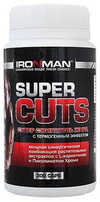 Супер сжигатель жира Super Cuts IRONMAN 300 капсул