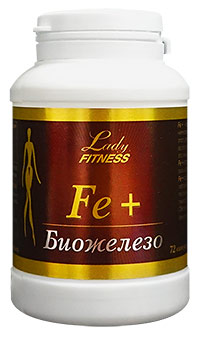 Препарат железа Fe plus LadyFitness 72 капсулы