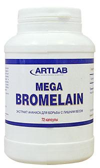 Жиросжигатель Mega Bromelain ARTLAB 72 капсулы