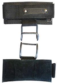Напульсники IRONMAN кожаные с крюком усиленные (цена за пару)
