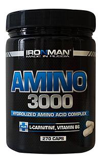 Аминокислоты Амино 3000 IRONMAN 270 капсул