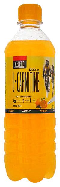 Спортивный напиток L-карнитин ATHLETIC NUTRITION с газом 500 мл