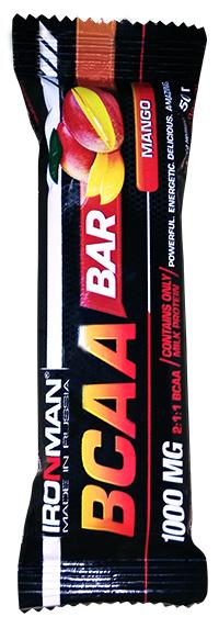 Протеиновый батончик BCAA Bar IRONMAN 50 грамм - Манго