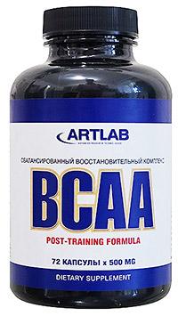 Аминокислоты BCAA ARTLAB 72 капсулы
