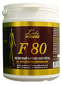 Протеин LadyFitness F80   300 грамм