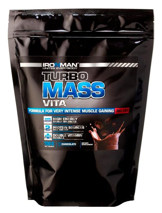 Гейнер Турбо Масс Вита без жира IRONMAN 0,7 кг
