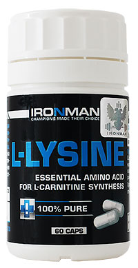 Аминокислота L-Лизин IRONMAN 60 капсул