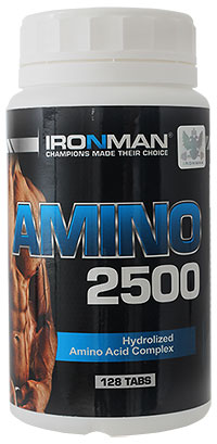 Аминокислоты Амино 2500 IRONMAN 128 таблеток