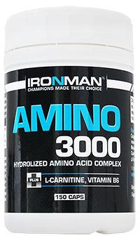 Аминокислоты Амино 3000 IRONMAN 150 капсул