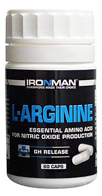 Аминокислота L-Аргинин IRONMAN 60 капсул