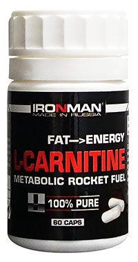 Жиросжигатель L-карнитин IRONMAN 60 капсул