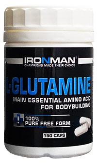 Аминокислота L-Глютамин IRONMAN 150 капсул