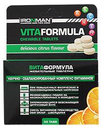 Жевательные таблетки Витаформула IRONMAN 30 таблеток