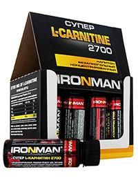Жиросжигатель Супер L-карнитин 2700 IRONMAN, 12 флаконов по 60 мл