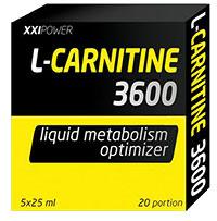 Жиросжигатель L-Карнитин 3600 XXI Power 5 флаконов по 25 мл