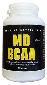 Аминокислоты MD BCAA 90 капсул