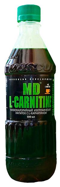 Спортивный напиток L-карнитин MD - Чай с лиметтой, 500 мл