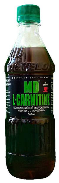 Спортивный напиток L-карнитин MD - Чай с малиной, 500 мл
