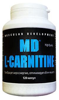 Жиросжигатель MD L-carnitine 120 капсул