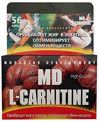 Жиросжигатель MD L-carnitine 56 капсул