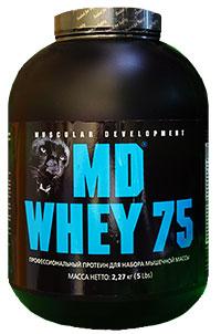 Сывороточный протеин MD WHEY-75  2,27 кг