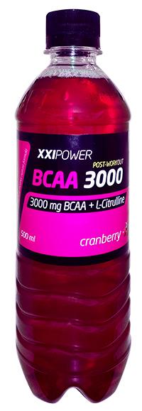 Спортивный напиток BCAA XXI Power - Клюква, 500 мл слабогазированный