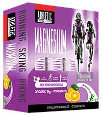 Organic Magnesium ATHLETIC NUTRITION - препарат магния, 10 флаконов по 25 мл