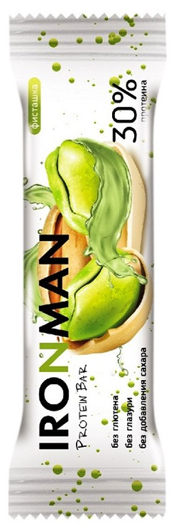 Протеиновый батончик 30% Protein Bar IRONMAN без сахара и глютена 50 грамм