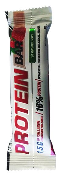 Протеиновый батончик с коллагеном Protein Bar IRONMAN 50 грамм - Клубника/белая глазурь