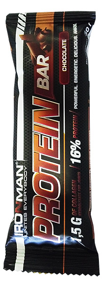 Протеиновый батончик с коллагеном Protein Bar IRONMAN 50 грамм - Шоколад