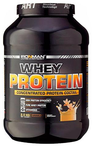 62% сывороточный протеин IRONMAN 2 кг