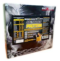 Сывороточный протеин 40% IRONMAN 1 кг