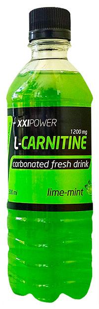 Спортивный напиток L-карнитин XX Power слабогазированный - Лайм-Мята, 500 мл